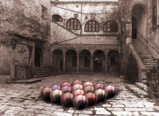 Courtyard with Orbs