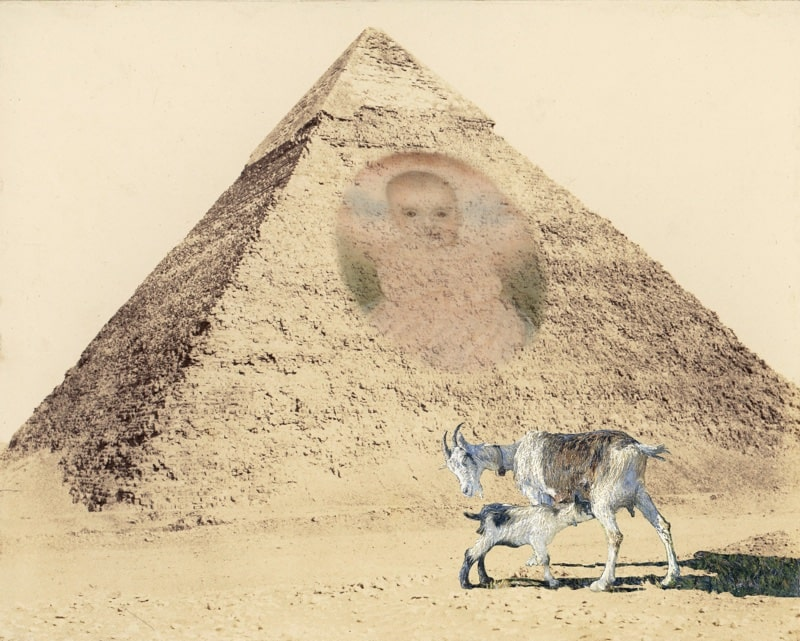 21. Pyramid with Goats & Portrait of a Baby