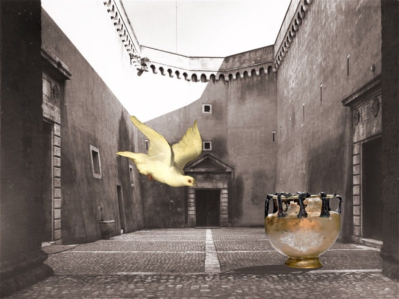 5. Vessel and Bird in a Courtyard