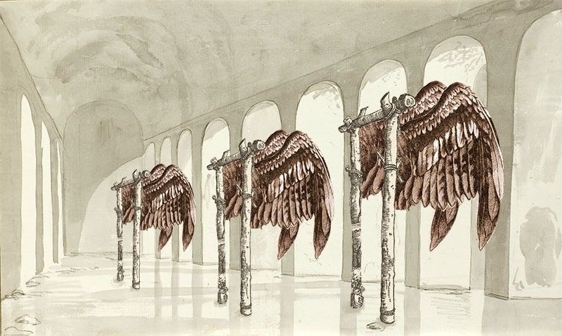 11. Winged Gallows in a Reservoir