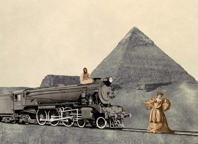 Woman Meeting a Locomotive