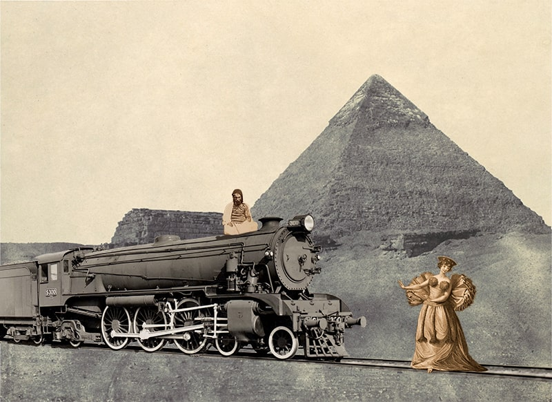 23. Woman Meeting a Locomotive