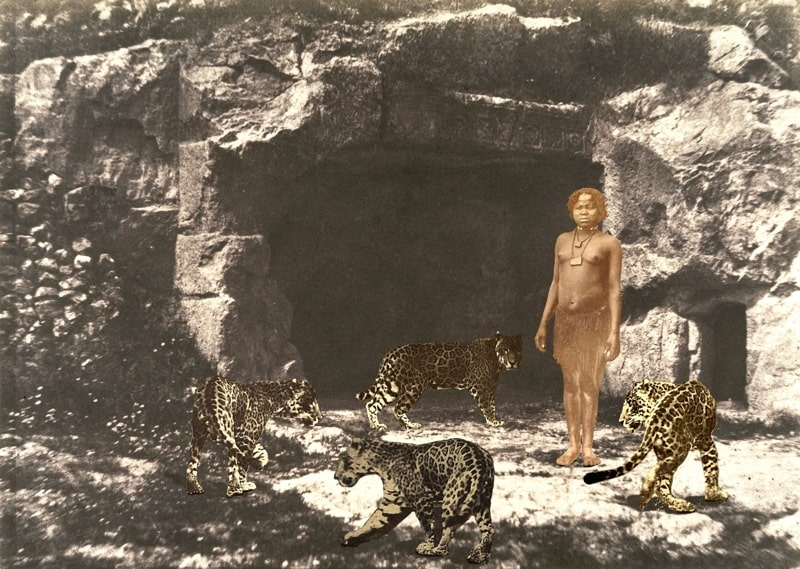 5. Woman with Leopards at a Threshold