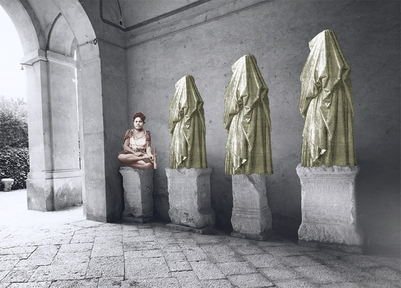 9. Woman with Veiled Attendants