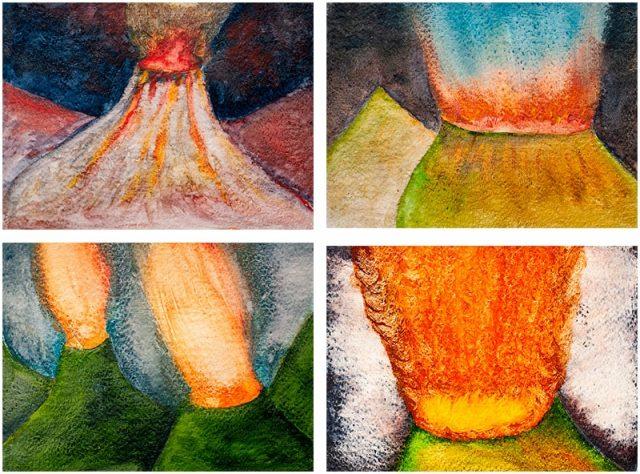 volcanos of cerebria (four studies)